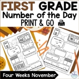Number of the Day {Giving Thanks!} First Grade Math November