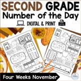 Number of the Day {Giving Thanks!} Second Grade Math