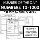 Number of the Day: Numbers Between 10 & 600 {developing nu
