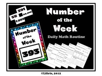 Number of the Week Daily Math Routine