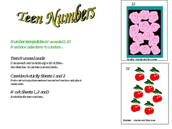Number recognition teen numbers