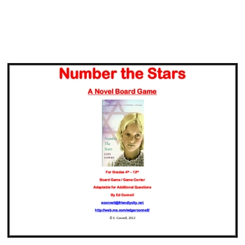 Number the Stars Board Game