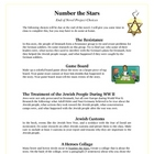 Number the Stars Reading End of Novel Activity Projects an