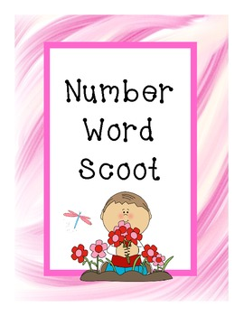 Number to Number Word Scoot Game