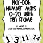 Numbers 0-20 Play-doh mats with Tens Frames