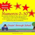 Numbers 0-20 SPANISH VERSION Aligned to Common Core *Bonus