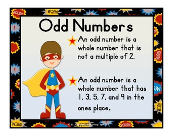 Numbers 0-20 Super Hero Theme