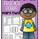 Numbers 1-20 Practice Pages {part 2}