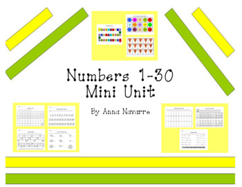 Numbers 1-30 Mini-Unit