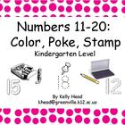 Numbers 11-20: Color, Poke, Stamp