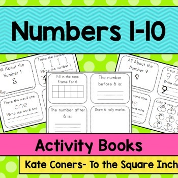 Numbers 1–10 Activity Books. CCS: Kindergarten Counting an
