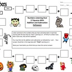 Numbers and Halloween Theme Math Listening Activity
