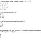Numbers and Operations Final Test