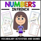 Numbers in French - vocabulary sheets, worksheets and memory game