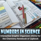 Numbers in Science for the Chemistry Interactive Notebook