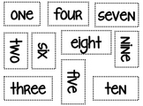 Numbers in Word Form Cards