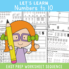 Numbers to 10 Worksheets - Learning Numbers and Numerals