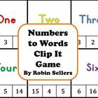 Numbers to Words Clip It Game