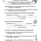 Numeration Worksheets Set of 3