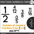 Basic Fractions in Numerical Notation {Clipart Collection}