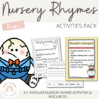 Nursery Rhymes Activities Packet