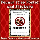 Nut and Peanut Free Poster