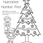 Nutcracker Number Find Math/Coloring Page