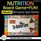 Nutrition Facts Board Game:  Fun and Educational! (Word + 