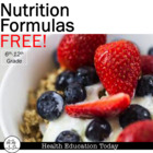 Nutrition Formulas: How many calories,fat,sugar grams shou