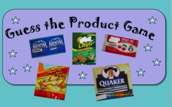 Nutrition Media Literacy: Fun PwrPt. Quiz-Recognize Produc