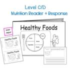Nutrition Month Healthy Foods  Reproducible Book Healthy H