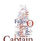 """O Captain, My Captain"" Whitman Poem - Poetry Art Print"