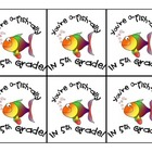 """""""O-fish-ally in 5th Grade"""" Gift Tags"""