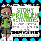 OA Story Problem Activities {Common Core Aligned 1.OA.1, 1.OA.2}
