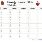 O.A.A. Weekly Lesson Plan