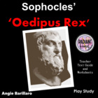 OEDIPUS REX-Literature Worksheets for Teachers - Sophocles