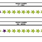ORDINAL NUMBER CARDS - Stars