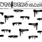 OUTSIDERS 34 Slang Phrases - Spraypaint Graffiti (by S.E. Hinton)