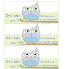 OWL Miss You Gift Tags Student Teacher