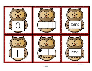OWL Number Matching Cards 0-10 FREE
