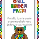 O.W.L. (Organized While Learning) Binder Pack (7 pages)