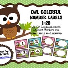 OWL Themed Numbers 1-28 and Blank Labels