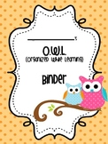 O.W.L.Polka Dot Binder Cover