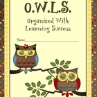 OWLS Binder, Notebook or Folder Insert