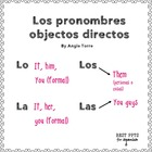 Spanish Object Pronouns PowerPoint