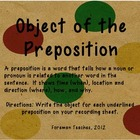 Object of the Preposition Task Cards