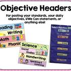 Objective Headings for Posting Standards (Primary)