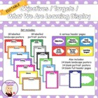 Objectives / Targets / What We Are Learning In Class Display
