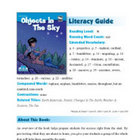 Objects In The Sky Literacy Guide