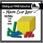 Oblique MAB block /base ten blocks clip art - 84 images